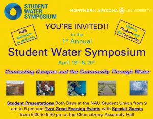 Student Water Symposium @ NAU Student Union